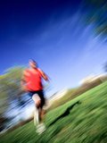Male Runner Out for a Fitness Run Photographic Print