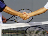 Post Tennis Match Hand Shake Photographic Print