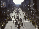 Finishers on Boyleston Street at the 1990 Boston Marathon Photographic Print