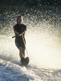 Young Female Water Skier in Action Photographic Print