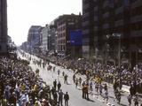 Finishers on Boyleston Street at the 1990 Boston Marathon Photographic Print
