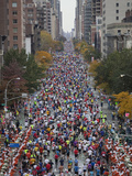 Runners Competing on First Avenue During 2009 New York City Marathon Photographic Print