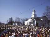 Start of the 1990 Boston Marathon in Hopkinton, MA Photographic Print