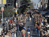 View of Runners Going North Up First Avenue in Manhattan During the 1977 NYC Marathon Photographic Print