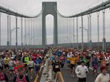 Runners Crossing the Verrazano Bridge During the 2009 New York City Marathon Photographic Print