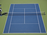 Venus and Serena Williams (USA) Competing Against Cara Black (ZIM) and Liezel Huber (USA) in the Wo Photographic Print
