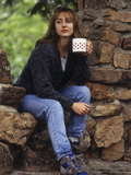 Female Hiker Taking a Break with a Warm Drink Photographic Print