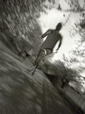 African American Male on a Training Run Photographic Print