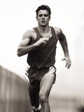 Male Runner Training Photographic Print