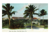 West Palm Beach, Florida - The Palms Hotel Exterior View Affiches par Lantern Press
