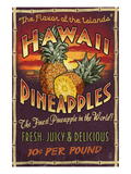 Hawaiian Pineapple Art by  Lantern Press
