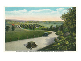 Maryland - National Road Through Frederick Valley Scene Prints by  Lantern Press