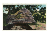Lookout Mountain, Tennessee - View of the Old Man of the Mountain Rock Formation Prints by  Lantern Press