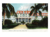Miami, Florida - Royal Palm Hotel Entrance Scene Art by  Lantern Press