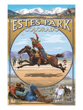 Estes Park, Colorado - Western Scenes Prints by  Lantern Press