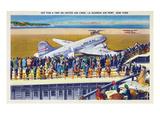 New York City, New York - United Airlines Plane Departing La Guardia Prints by  Lantern Press