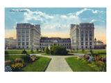 Winnipeg, Manitoba - General Hospital Exterior Prints by  Lantern Press