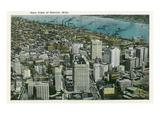 Detroit, Michigan - Aerial View of City Prints by  Lantern Press