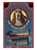 Devil Dog Tavern - Basset Hound Affiches par  Lantern Press