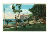 Santa Catalina Island, California - Hotel St. Catherine View of New Casino Prints by Lantern Press