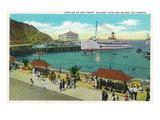 Avalon, California - Portion View of the Bay Front Kunstdruck von  Lantern Press