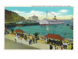 Avalon, California - Portion View of the Bay Front Poster by  Lantern Press