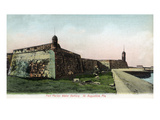St. Augustine, Florida - Fort Marion Water Battery Scene Prints by  Lantern Press