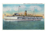 Santa Catalina Island, California - View of the New SS Catalina Steamer Posters by  Lantern Press