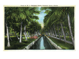 Miami, Florida - W J Matheson Estate Canal Scene at Coconut Grove Prints by Lantern Press 