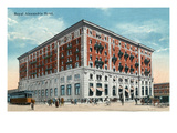 Winnipeg, Manitoba - Royal Alexandria Hotel Exterior Prints by  Lantern Press