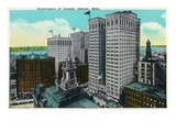 Detroit, Michigan - City Skyscrapers Scene Posters by Lantern Press 