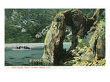 Santa Catalina Island, California - View of Arch Rock Print by  Lantern Press