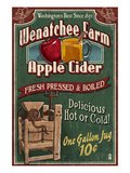 Wenatchee, Washington - Apple Cider Art by Lantern Press
