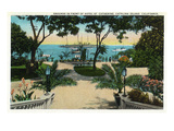 Santa Catalina Island, California - Hotel St. Catherine Front Grounds View Posters by Lantern Press
