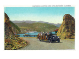 Santa Catalina Island, California - View of a Sightseeing Jaunting Car Posters by  Lantern Press