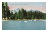 Lake Tahoe, California - Tallac Pier View of Mount Tallac Prints by  Lantern Press