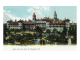 St. Augustine, Florida - Panoramic View of Hotel Ponce De Leon Affiches par  Lantern Press