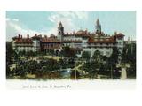 St. Augustine, Florida - Panoramic View of Hotel Ponce De Leon Kunstdrucke von  Lantern Press