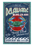 Delaware Blue Crabs Art by  Lantern Press