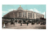 Boston, Massachusetts - South Station with Elevated Train Art by  Lantern Press