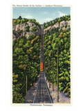 Chattanooga, Tennessee - View of the Lookout Mountain Incline Railcar Descending from the Mt Kunstdrucke von  Lantern Press