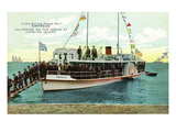 Santa Catalina Island, California - View of Glass Bottom Boat Empress on Beach Prints by  Lantern Press