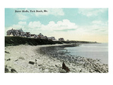 York Beach, Maine - Dover Bluffs Scene Art by Lantern Press 