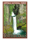 Toketee Falls - Umpqua National Forest Pósters por  Lantern Press