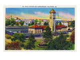 Baltimore, Maryland - Mt. Royal Station and Surrounding Grounds View Posters by  Lantern Press