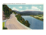Lookout Mountain, Tennessee - View of the Highway Up to the Mountain Poster by Lantern Press 