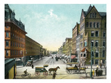 Syracuse, New York - Northern View Up Salina Street Posters by Lantern Press 