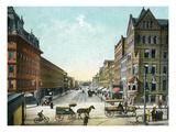 Syracuse, New York - Northern View Up Salina Street Posters by  Lantern Press