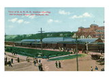 Old Orchard, Maine - Boston and Maine Railroad Station, Old Orchard House Posters by  Lantern Press