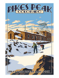Snow Scene Atop Pikes Peak, Colorado Prints by  Lantern Press